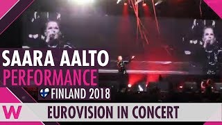 "Saara Aalto ""Monsters"" (Finland 2018) LIVE @ Eurovision in Concert 2018"