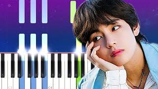 BTS V   Winter Bear  (Piano Tutorial)