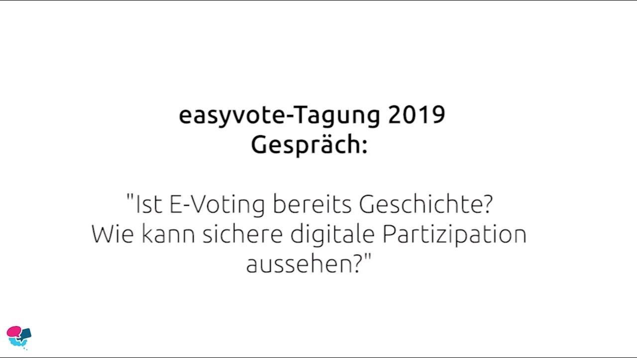 """easyvote-Tagung 2019: """"Ist E-Voting bereits Geschichte?"""""""