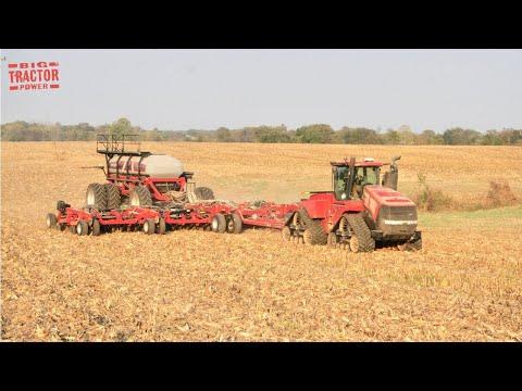 60ft CASE IH 500 Air Drill & 600 HP STEIGER 600 Quadtrac Tractor