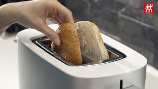 Toaster mit Brötchenaufsatz, 2 Schlitze kurz, Silber,,large