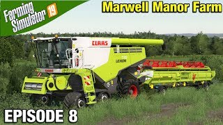 BUYING A BIGGER COMBINE Farming Simulator 19 Timelapse - Marwell Manor Farm FS19 Episode 8