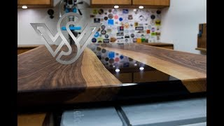 How To Build Walnut Wood And Black Epoxy Resin River Table