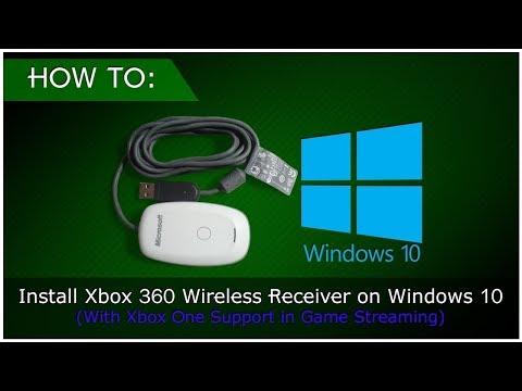 Connect Xbox 360 Wireless Receiver to Windows 10