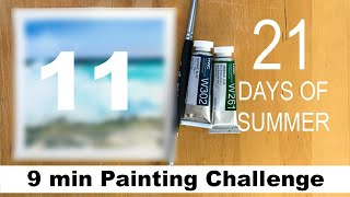 DAY 11Watercolor Painting CHALLENGE TAG #maria21daysofsummer