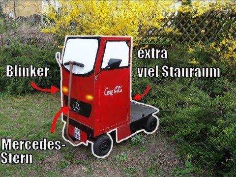Coca-Cola Truck Tunning Bollerwagen selber bauen für den 1. Mai, Maiwagen