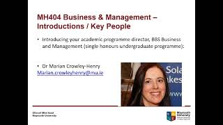 MH404 BBS Business & Management