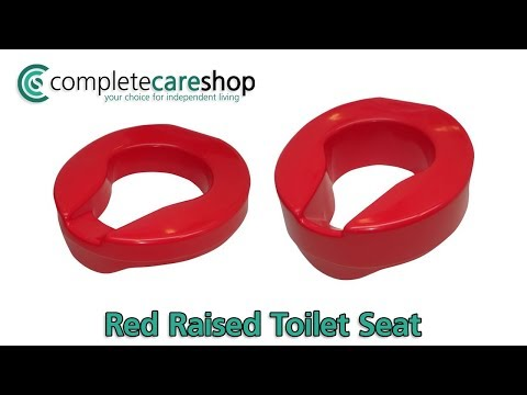 Red Raised Toilet Seat Demo