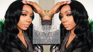 Neutral Makeup Tutorial For Black Women | Tamara Renaye