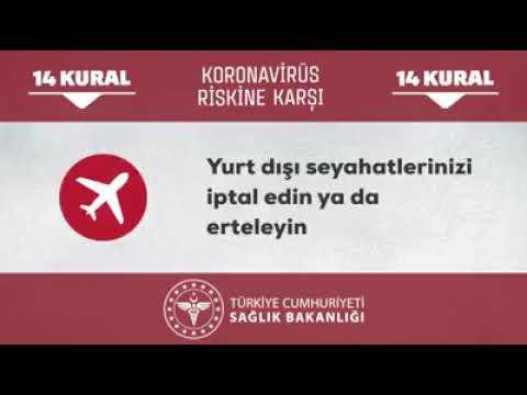 Koronavirüs Riskine Karşı 14 Kural