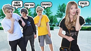 LOOKING OLDER TO SEE HOW MY CRUSH REACTS PRANK **We Almost Broke Up Over This** 😂  Emily Dobson