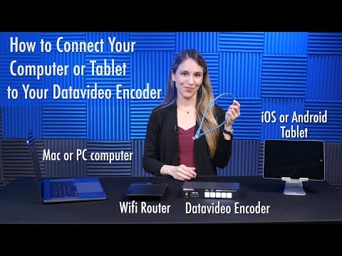 How to Connect Your Tablet or Computer to Your Datavideo Encoder