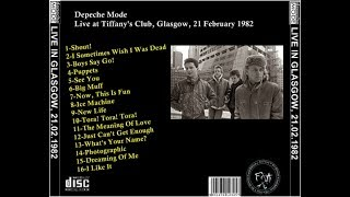 Depeche Mode Live, 21-02-1982, Tiffany's, Glasgow, Scotland, UK