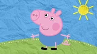 Рисуем вместе: Джордж из мультика Свинка Пеппа. Развивающий мультик. Drawing George from Peppa Pig