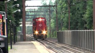 preview picture of video 'Morristown & Erie Alco #18 With Horn Show At Morris Plains 7-31-2012'