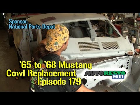 Download Classic Ford Mustang 1965 1966 1967 1968 Cowl Vent Replacement How to Episode 179 Autorestomod HD Mp4 3GP Video and MP3