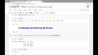 Array   Indexing and slicing 2d arrays