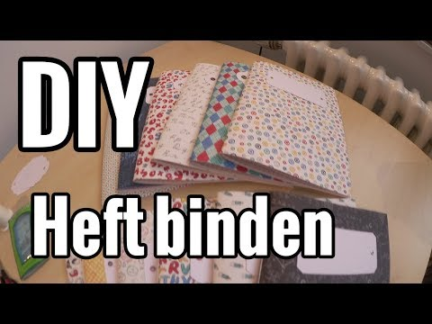 DIY - Schulheft selbst binden | Vlog Special