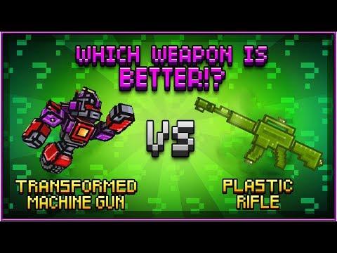 Transformed Machine Gun VS Plastic Rifle - Pixel Gun 3D
