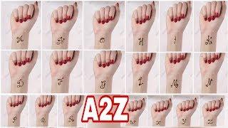 A 2 Z Letter Alphabet Mehndi Tattoos    Mehendi Tattoos 2019   