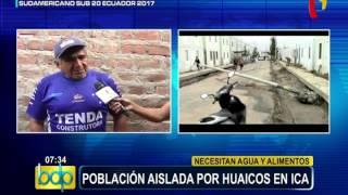 Ica: población aislada solicita urgente ayuda tras caída de huaico (2/2)