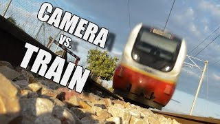 preview picture of video 'Camera destroyed by train'
