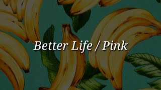 Pink - Better Life (Lyrics)