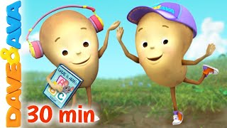 🐽 One Potato, Two Potatoes   Dave and Ava   Nursery Rhymes and Kids Songs 🐽