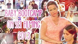 "Danneel Harris, Видео со съемок фильма ""Baby Boot Camp"""