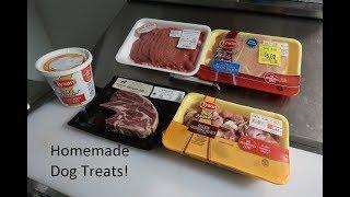 Healthy & Easy Homemade Dog Treats!  Dehydrated Meats!