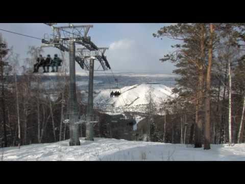 Видео: Видео горнолыжного курорта Бобровый Лог в Красноярский край