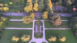 Dordrecht met drone - Wantijpark en verdiepte Tuin, uitzicht over vlijbuurt, PlanTij