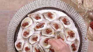 Huîtres festives au bacon et poivrons
