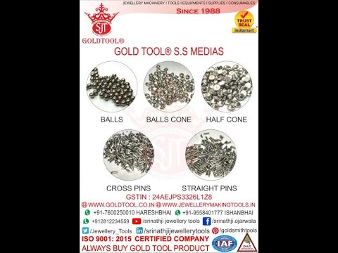 Gold Tool Perforated Steel Half Cone Media
