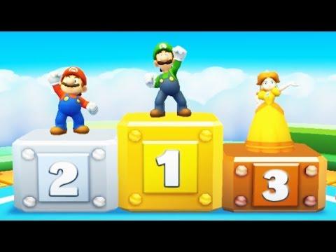 Mario Party Star Rush MiniGames - Mario Vs Luigi Vs Peach Vs Daisy (Master Cpu)