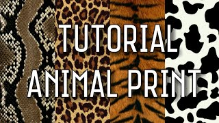 TUTORIAL ANIMAL PRINT - PATTERN - LIMEND