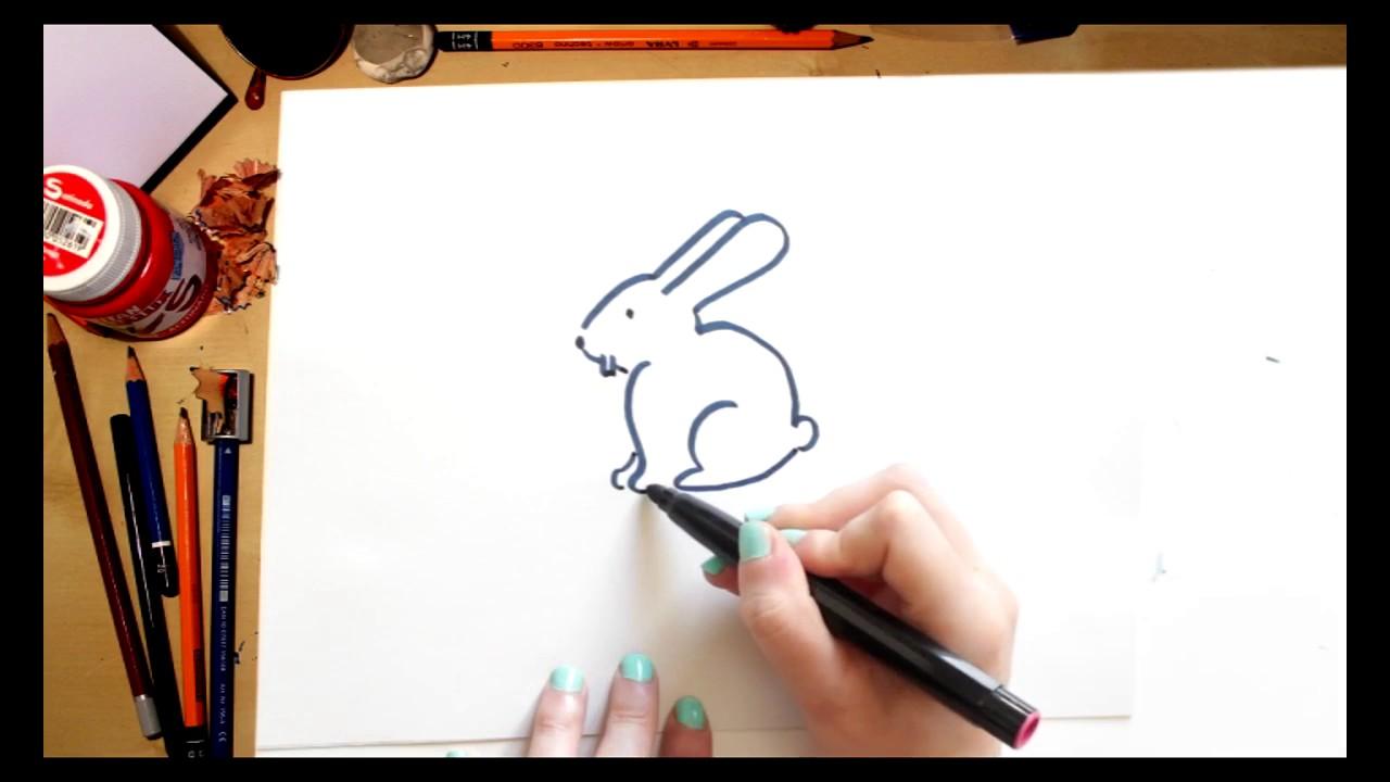 ????⚡Como dibujar un Conejo fácil (comentado)
