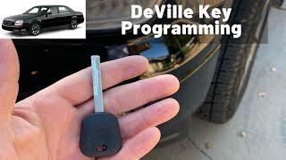 How To Program Cadillac DeVille Key 2000 - 2005 DIY Transponder Chip Ignition - All Keys almost