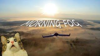 ????️ fpv flight over the morning fog ????️ ☀️ skyzone theer & arwing ????️