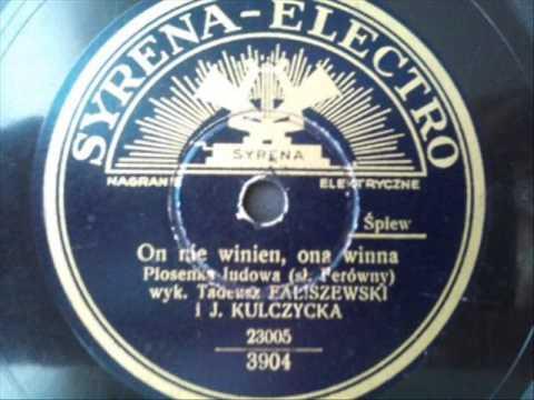 Tadeusz Faliszewski i Janina Kulczycka - On nie winien, ona winna