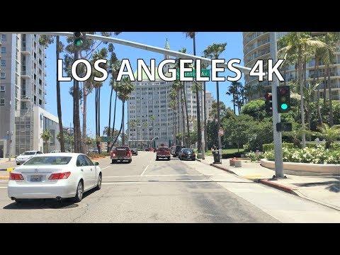 Driving Downtown - Long Beach 4K - USA