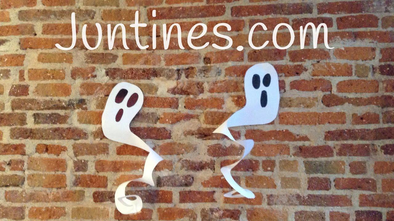 Fantasmas de papel - Manualidades para Halloween