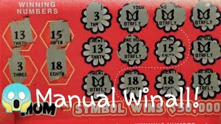 HUGE MANUAL WINALL Mother's Day Scratch Off Tickets! UNBELIEVABLE RARE Ticket Found!! CLAIMER!