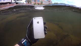 Found iPhone, Knife and Jewelry Underwater in River! (Scuba Diving) | DALLMYD - Video Youtube
