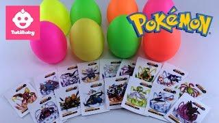 Pokemon Cards - Tuti Pokemon Cards Opening surprise eggs 8 - 4K - Tutibaby