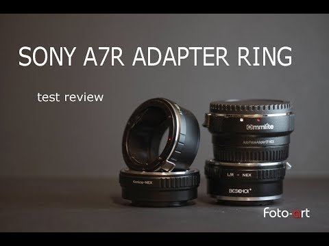 Sony alpha A7R anelli adattatori recensione - test review ilce adapter ring