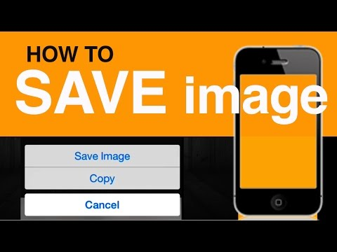 How to Save Download image Pictures Photos Safari in iPhone iPad iPod