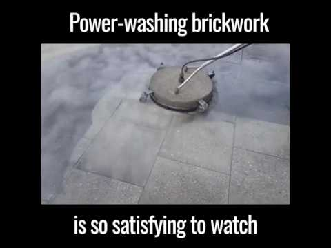 Power Washing Brickwork Is Satisfying