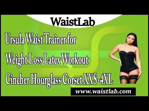 6efa5c842 Ursula Waist Trainer for Weight Loss Latex Workout Cincher Hourglass Corset  XXS-4XL Review