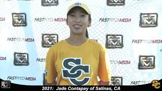 2021 Jade Contapay Speedy Slapper, Shortstop and Outfield Softball Skills Video - Ca Suncats